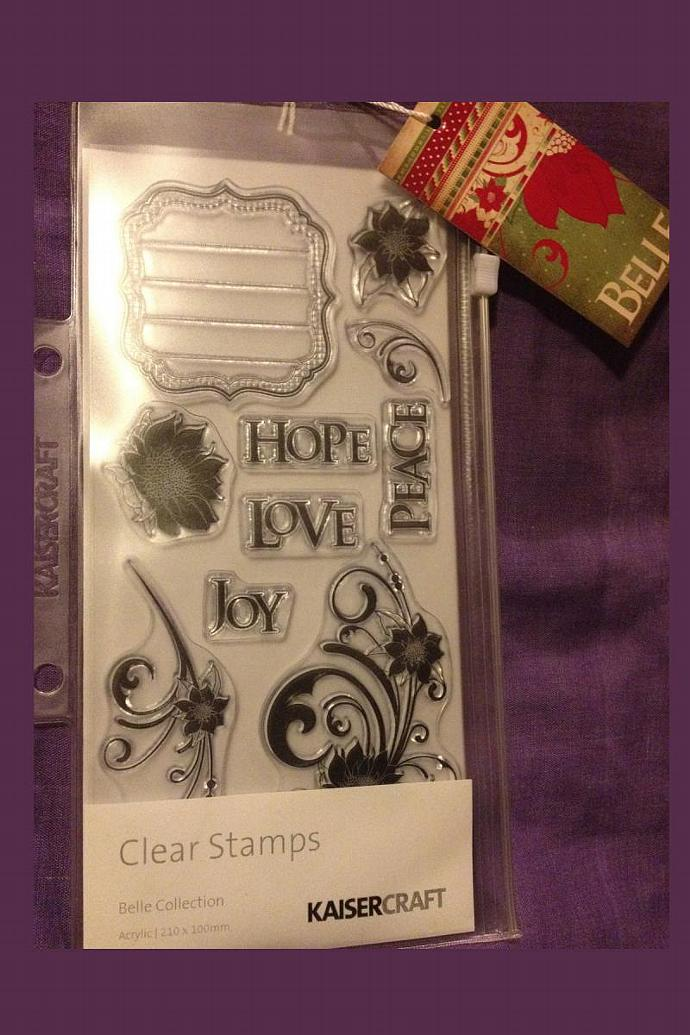 KaiserCraft -BELLE- Christmas Stamps-  Clear Stamps - Brand NEW