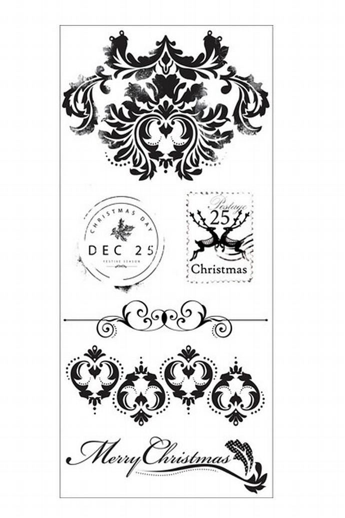 KaiserCraft  - Dear Santa - Christmas Stamps-  Clear Stamps - Brand NEW- Only