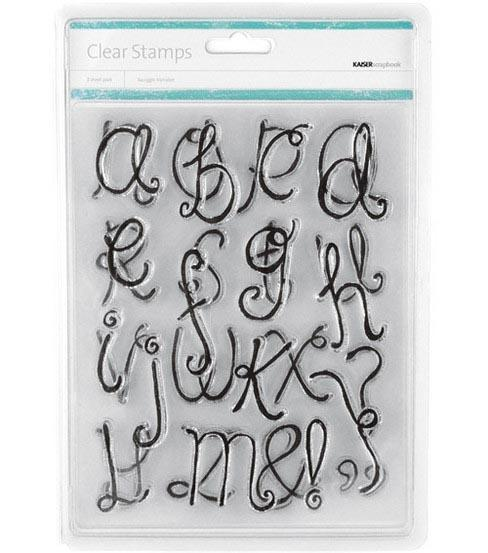 "Kaiser Craft Stamps -"" Squiggle Alphabet "" - Acrylic Stamps - Brand NEW- Only"