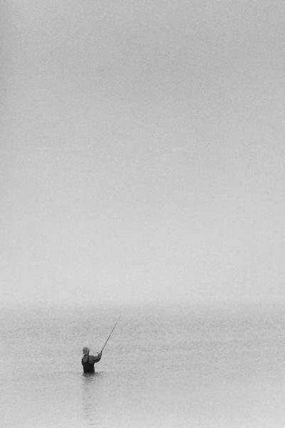 An Ocean Fisherman in the Fog Fine Art Photo