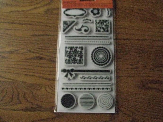 """Fiskars- """" Shapes and Such """"  - Acrylic Stamps - Clear Stamps- Brand NEW"""