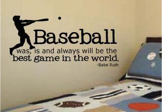 Baseball Babe Ruth Quote For Little Boys Rooms Vinyl Wall Art Decal 14 X