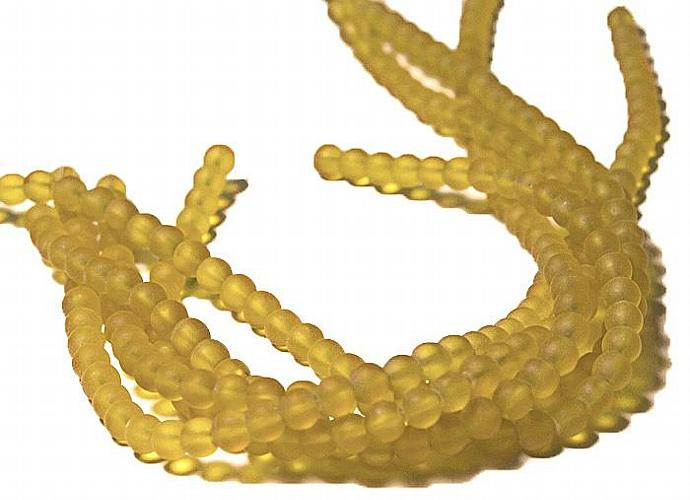 Desert Gold- recycled sea glass beads