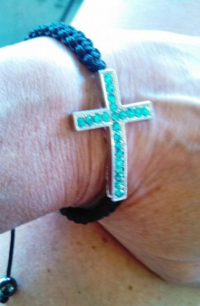 Topaz Crystal Macrame' Bracelet