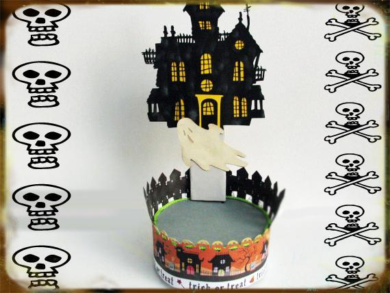 Haunted House Stand- Can be used for Cupcakes- Lollipops or Cake pops - Reusable