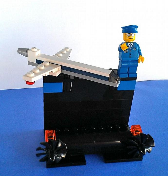 LEGO® Jet Pilot Business Card Holder by BrickShtick on Zibbet