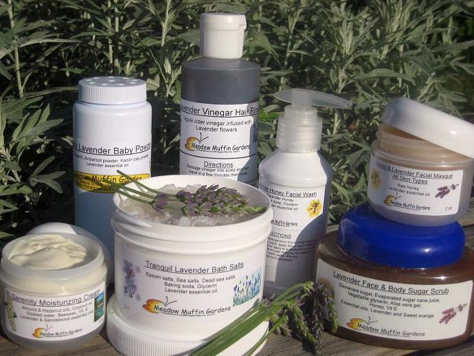 Lavender Assortment in Body Care, Gift Basket Option, Herbal Skin Care