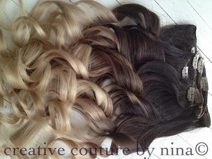Ombre Hair Extensionsdipdyedark By Ombrehairextensions On Zibbet