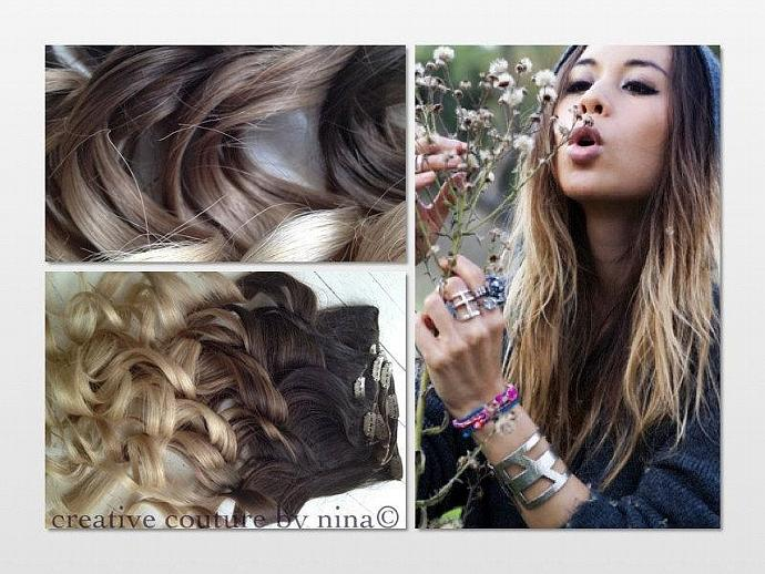 Ombre Hair Extensionsdipdyedark Ombrehairextensions