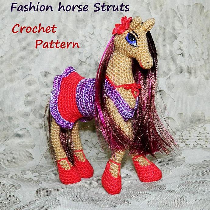 Crochet Pattern Fashion Horse Struts By Inspiredknittoys On Zibbet