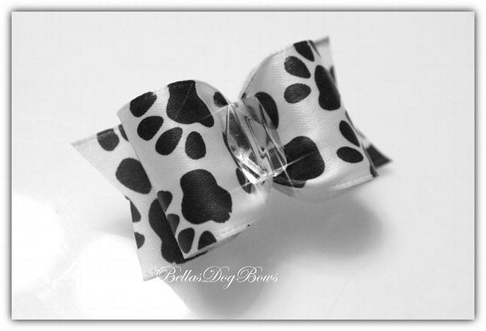 "7/8"" ~ PawPrint Bow (Choose your Style)"