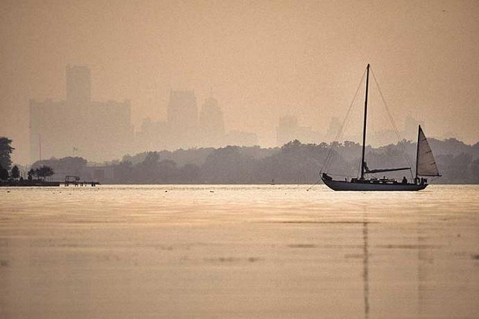 Classic Sailboat Anchored Off Peche Island Canada Fine Art Photo