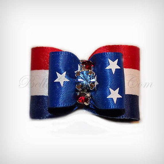 Patriotic Colors of Red, White & Blue Coordinated Red and Blue Swarovski