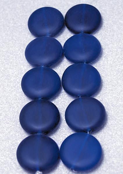 Blue Glow II-  recycled sea glass beads