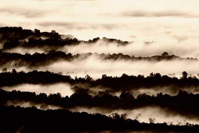 Morning Mist Burning Off the Blue Ridge Mountains Fine Art Photo