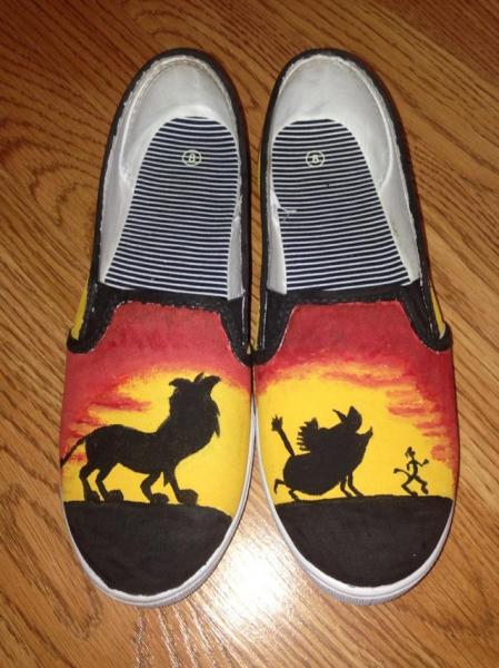 Hand Painted Lion King Shoes By Kccrafts On Zibbet