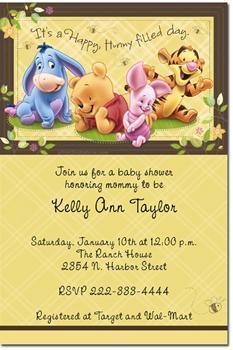 Winnie the Pooh Baby Shower Invitations (Download JPG Immediately)