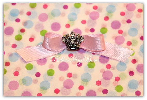 Pink Satin Princess Tiara Bow
