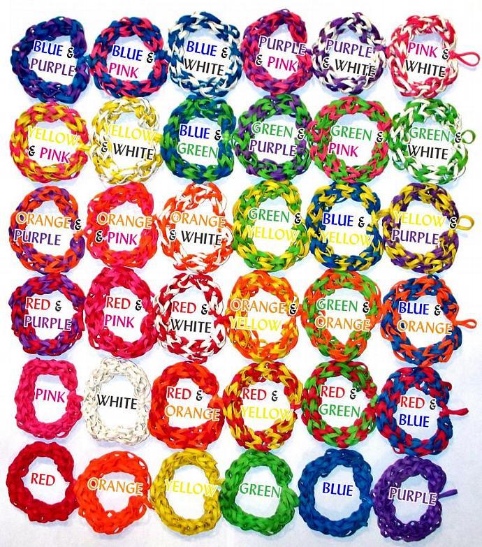 Rainbow Bracelet - Stretch Bracelet Made with Red, Orange, Yellow, Green, Blue,