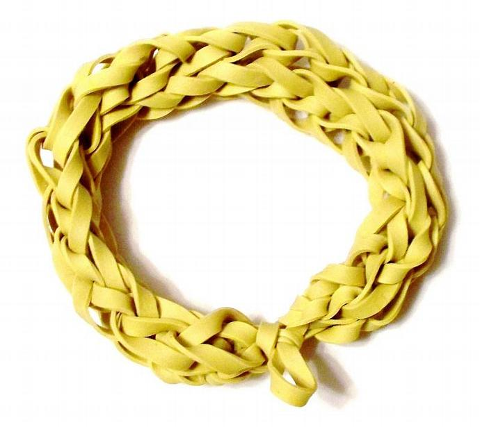 Yellow Rubber Band Bracelet - Great Party Favor / Gift for Kids Teens and Adults