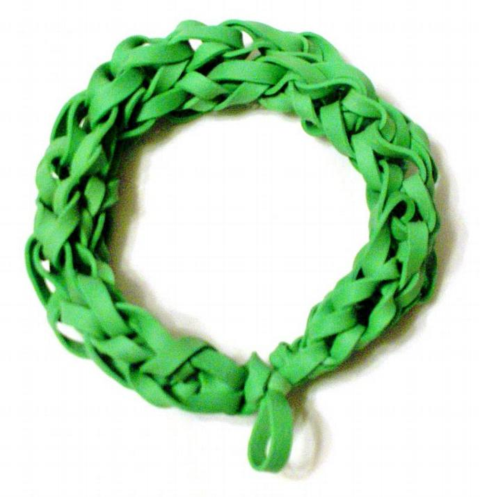 Green Rubber Band Bracelet - Go Green - Upcycled Rubber Jewelry - St. Patrick's
