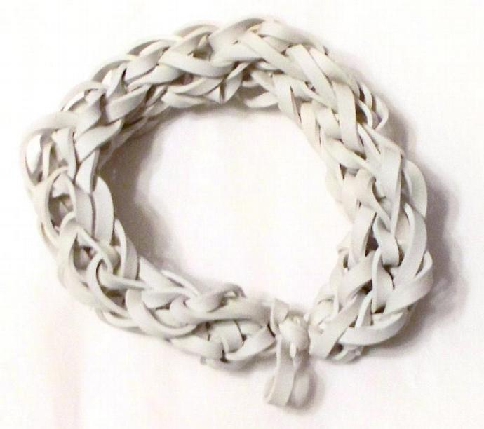 White Rubber Band Bracelet - Support the Cause - Diabetes, Blindness, and Bone