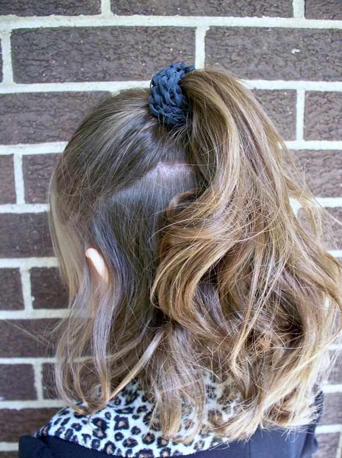Gothic Black Bracelet - Unisex Stretch Bracelet with Elastic Bands - Black Hair