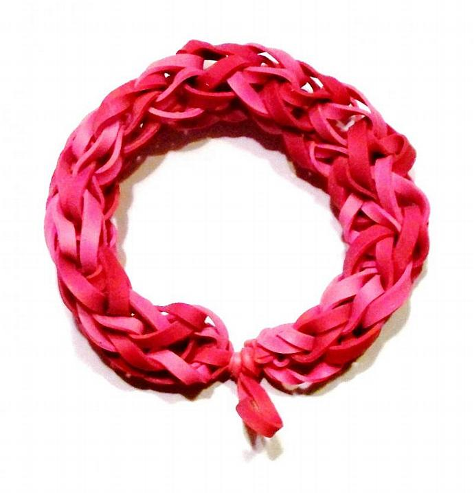 Red and Pink Rubber Band Bracelet - Valentines Day Presents - Great Party Favor