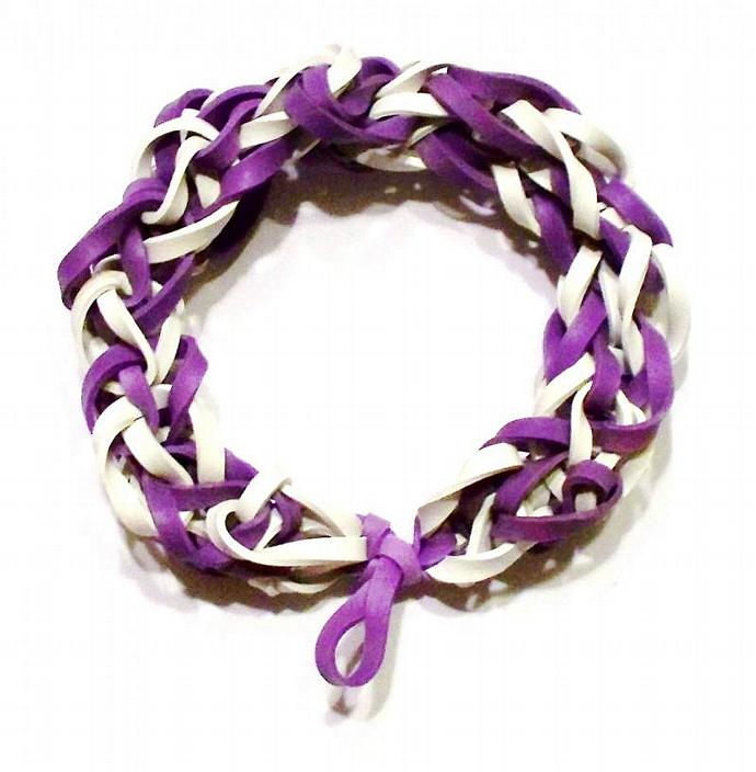 MLB Colorado Rockies Sports Bracelet - Purple and White Rubber Band Bracelet -