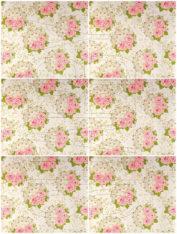 Shabby Chic digital  collage sheet Floral for scrapbook and cards  DC623