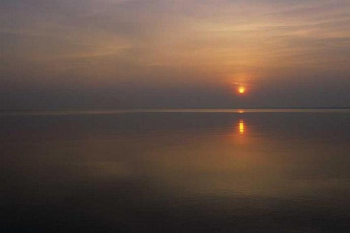 The Sun Rising Over Catawba Island on Lake Erie