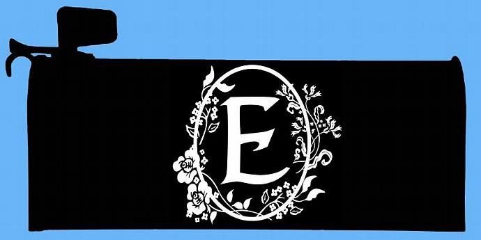 E, P or Y - Mailbox Monogram -Set of Floral Cameo Framed Monograms  - For