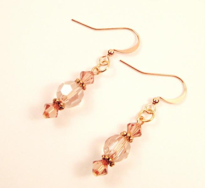 Pale Golden Crystal Earrings
