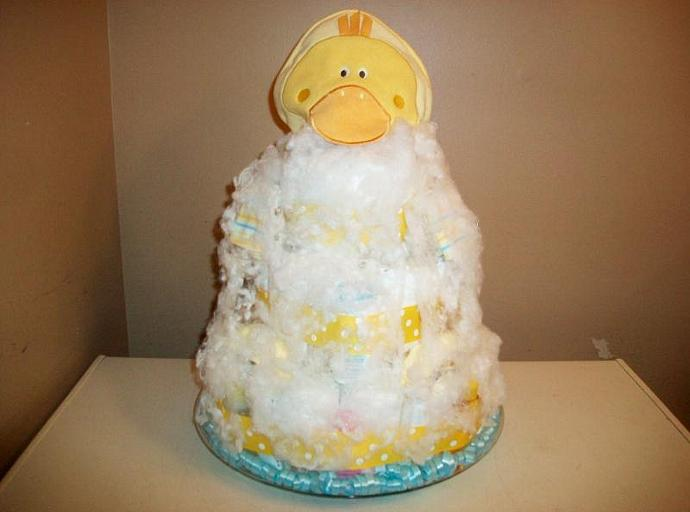 Yellow and white themed baby shower 3 | readymadediapercakes