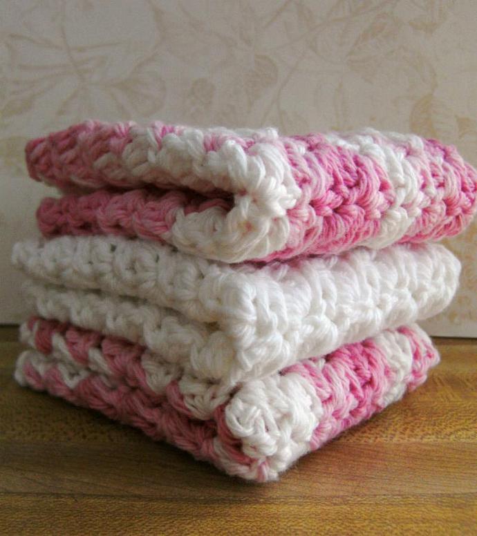 STRAWBERRY SHORTCAKE---Set of 3 Handmade Cotton Cr