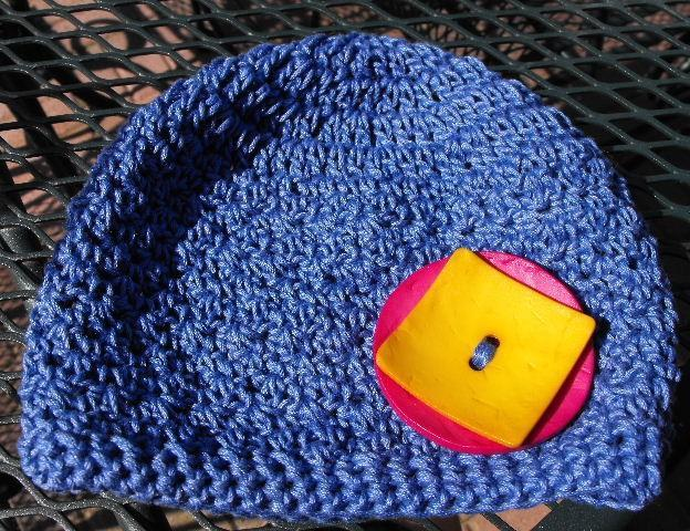 FANCY PANTS HYACINTH BLUE COTTON CROCHET BABY HAT
