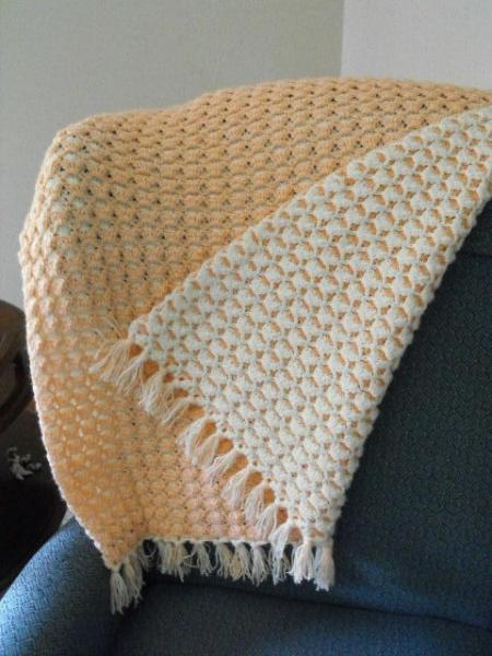 KEEPSAKE REVERSIBLE BABY CRIB BLANKET AFGHAN IN AP