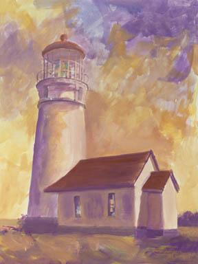 """A Light In The Sky"" Giclee Paper Print by Carol Thompson"