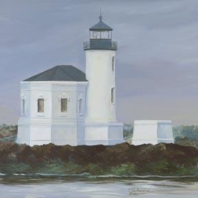 """Bandon Lighthouse"" Paper Giclee Print by Carol Thompson"