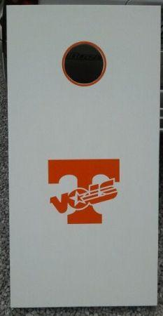 Tennessee Volunteers Vinyl Decal Set Of 2 For Cornhole Game Boards