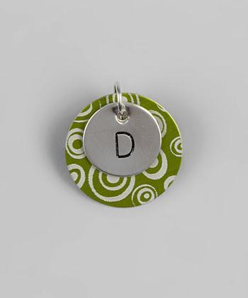 CUSTOM - FUNky Initial Pendants; Hand Stamped Sterling Silver Pendant w/ Funky