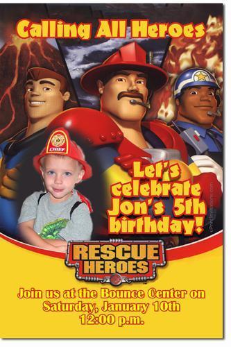 Rescue Bots Birthday Invitations (Download JPG Immediately)