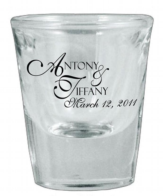 84 Wedding Favors Customized Glass Shot Glasses By Factory21 On Zibbet