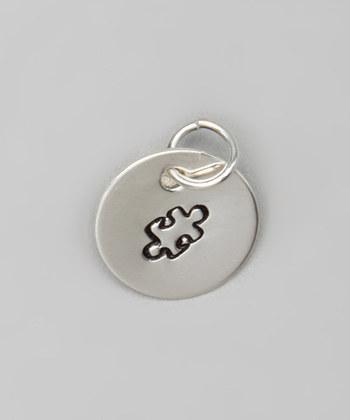 "1/2"" Sterling Silver Autism Awareness Pendant - Hand Stamped"