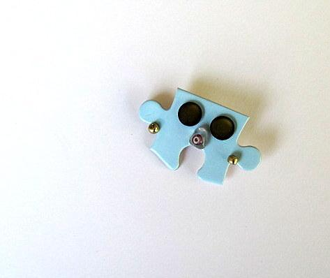 Who? Jigsaw Puzzle Piece Pin