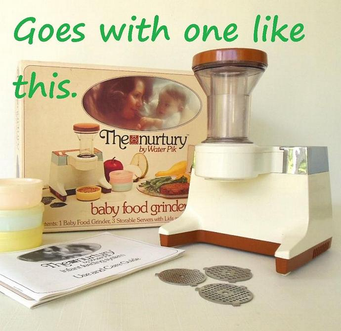 WaterPik Nurtury Electric Baby Food Grinder Replacement Part Motor Base