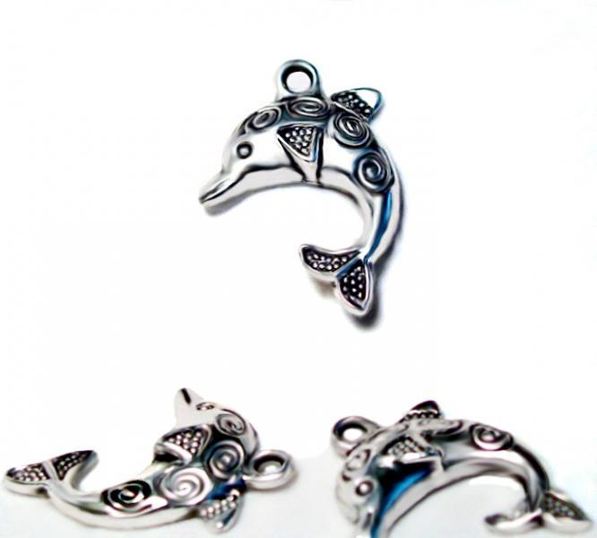 The Decorated Dolphin-charm-pendant