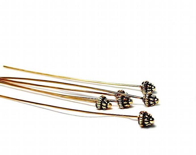 Crown Princess- 2.5 inch designer headpins