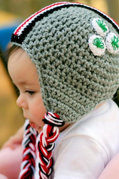POPULAR SCARLET AND GREY HELMET HAT CHILDREN SIZES