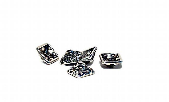 Renaissance- pewter bead caps- jewelry findings